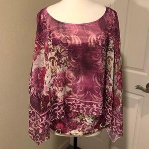 Flowy Layered Embellished Blouse